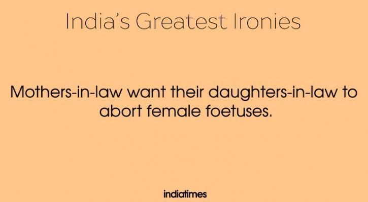 indian irony