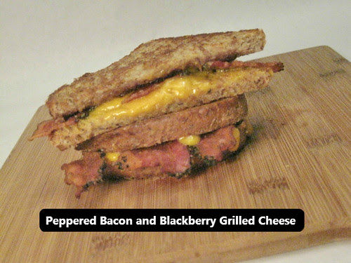 Peppered Bacon and Blackberry Grilled Cheese