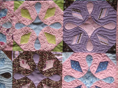 Olivia's quilt close up