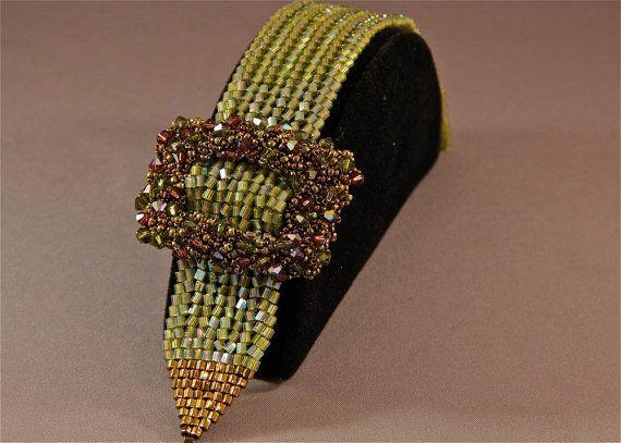 Belted Elegance Bracelet Choker Pattern on Etsy, $20.00