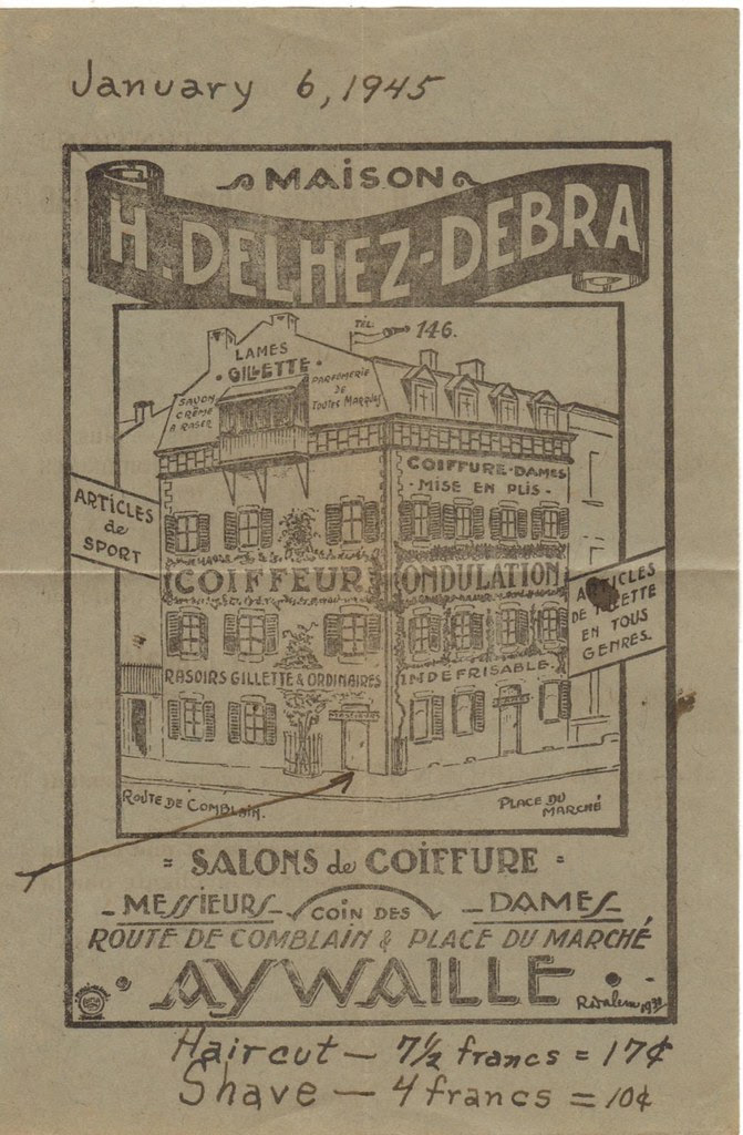 World War 2 WWII WW2 World War II salon flyer aywaille belgium 1945