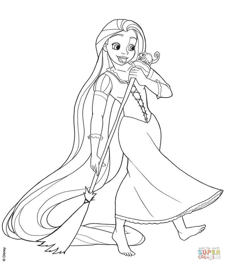Scarica Rapunzel Da Colorare Pdf - Disegni da colorare ...