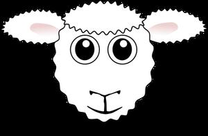 Komik Koyun Yüz Vektör Görüntü Halka Açık Vektörler