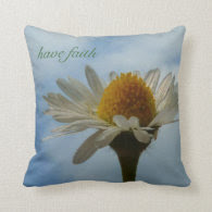 Faith and Daisy Throw Pillow