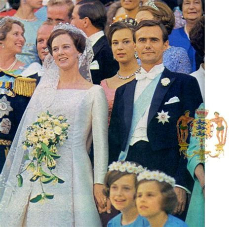 A good view of Princess Margrethe?s wedding bouquet and