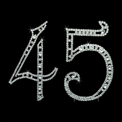 These rhinestone numbers with dazzling swarovski crystals