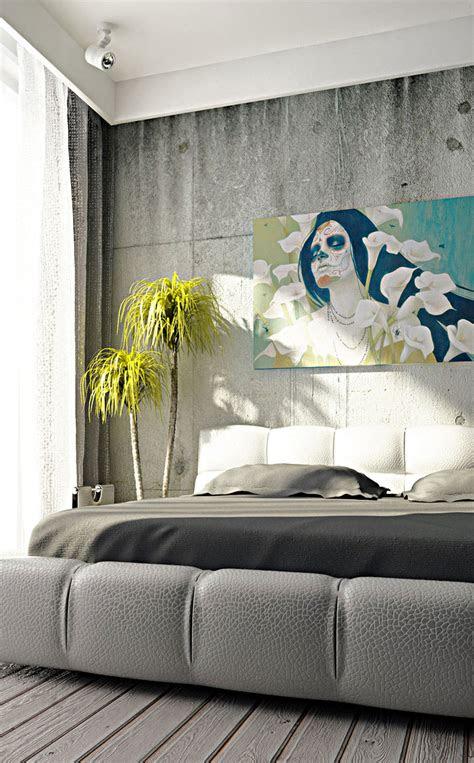 modern surreal art interior bedroom design interior