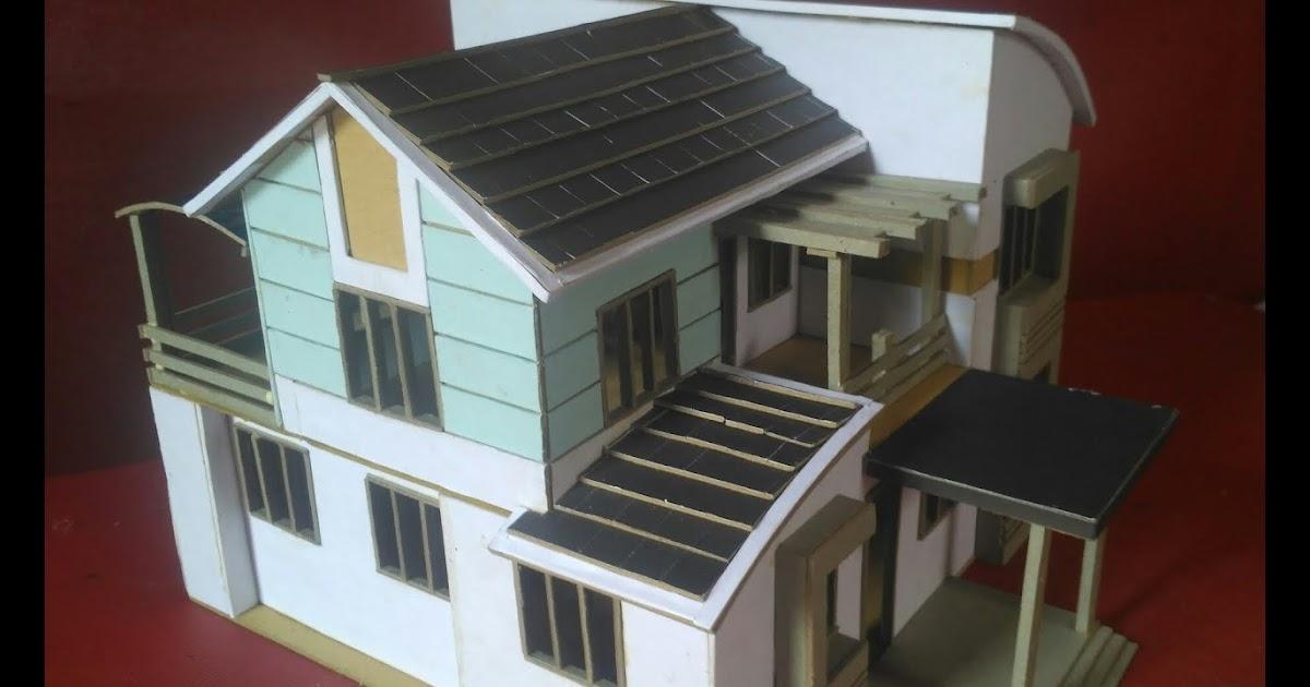 Miniatur Rumah Minimalis Dari Triplek