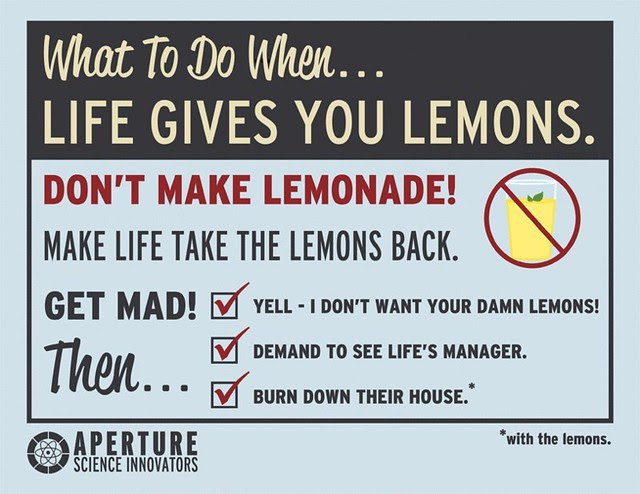 What to do when life gives you lemons.