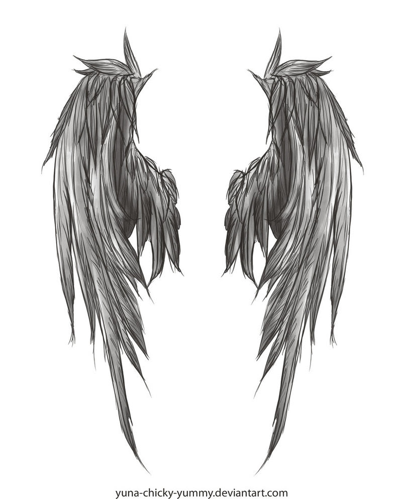 Coolest Sketch Of Angels Wings For Back Tattoo Designs Tattoomagz