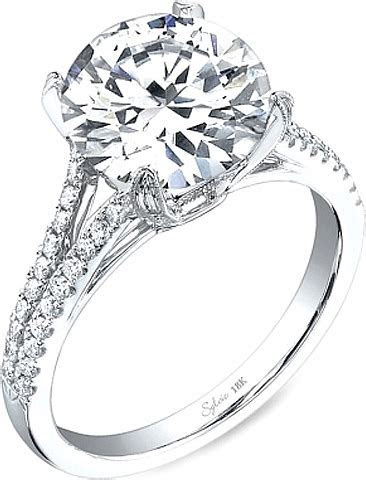 Sylvie Split Shank Diamond Engagement Ring SY098