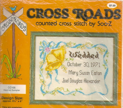 """Wedded"" Cross Stitch Chart"