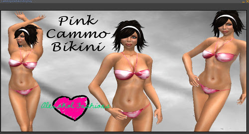 35L Thursday Alexohol Fashions pink cammo bikini