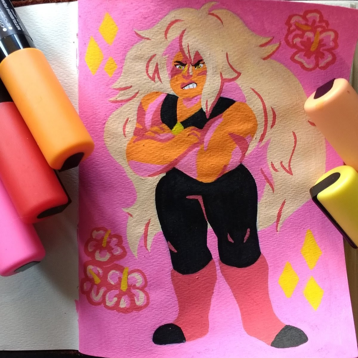 Continuing with my Posca drawings, I did some Steven Universe drawings! The characters from this show work really well with the bright and bold Posca colors.