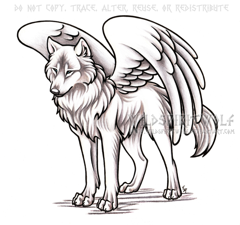 Winged Alpha She-Wolf Commission by WildSpiritWolf on ...