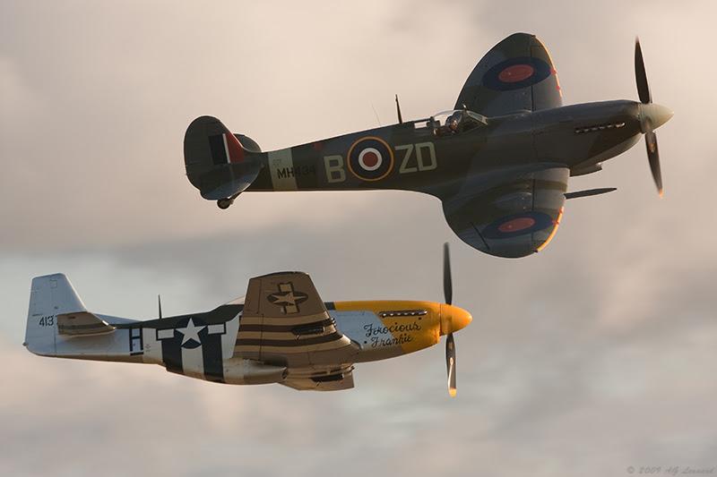 Spitfire vs Mustang