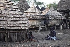 English: A village in South Sudan