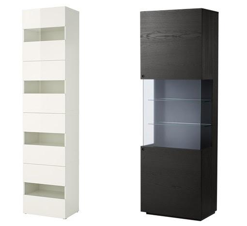 Dormitorio muebles modernos ikea aparadores y vitrinas - Vitrina cristal ikea ...
