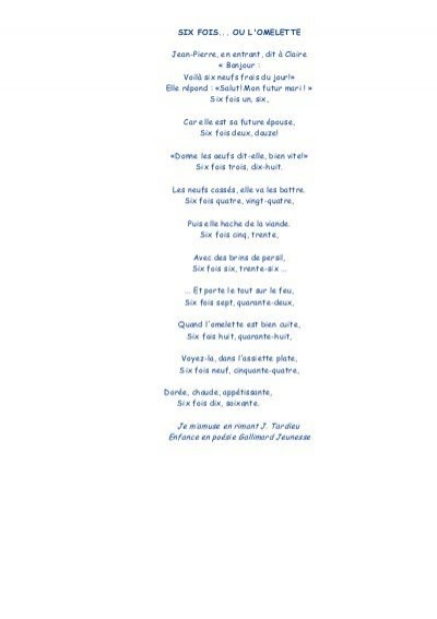 Poesie Jean Tardieu Tables De Multiplication