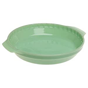 Fire-King Jade-ite 10-Inch Pie Plate