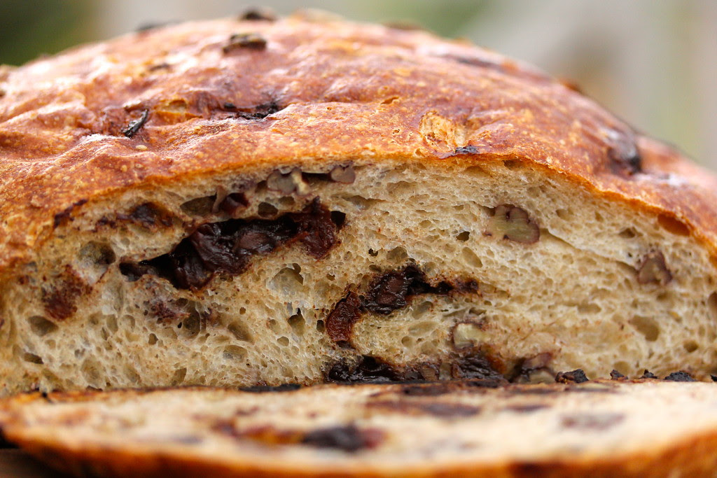 No-Knead Chocolate-Cherry Pecan Bread Karens Kitchen Stories