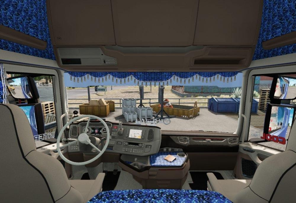 Blue Danish Interior For Scania New Generation V1 0
