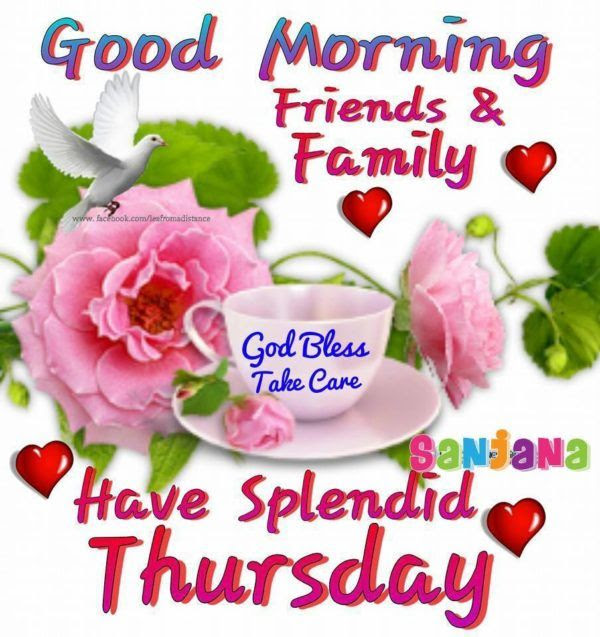 Good Morning Friends Family Have A Splendid Thursday Pictures