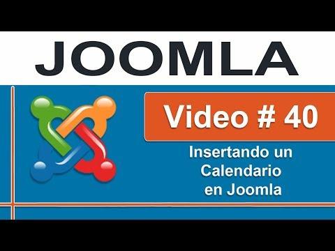 Insertando un calendario para eventos en Joomla parte -1