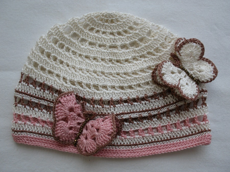 From the remnants of yarn - summer children's hats