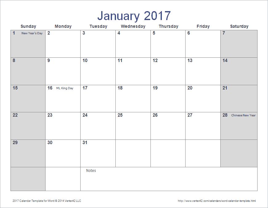 Calendar March 2017 Word | 2017 calendars