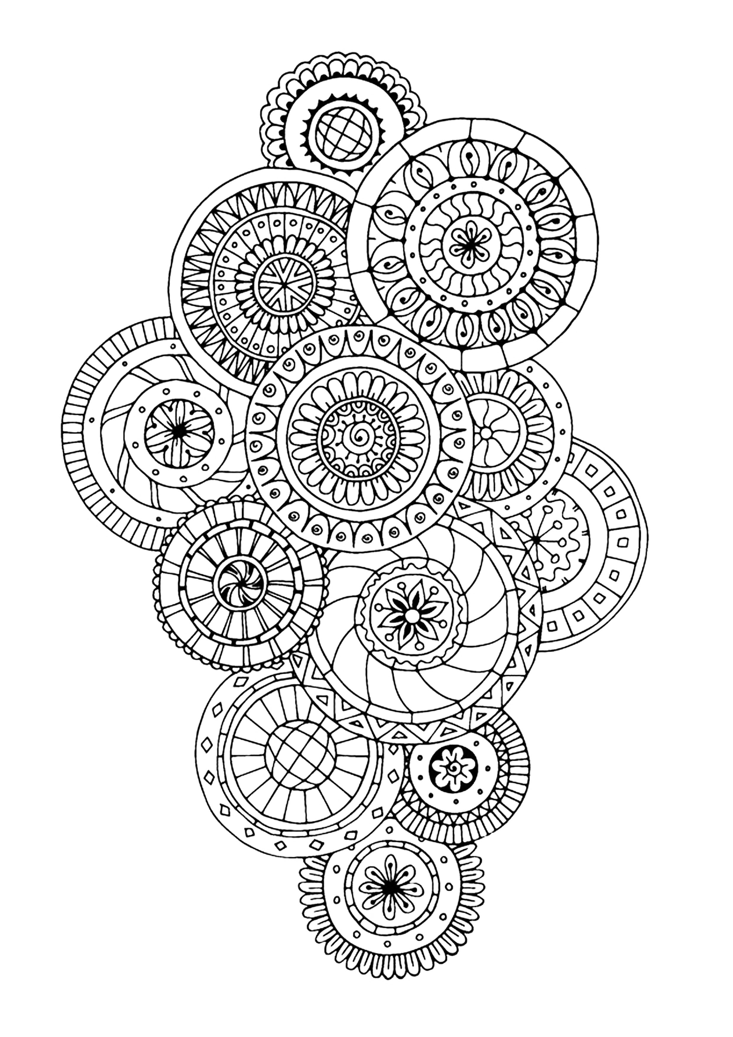 Zen Antistress Abstract Pattern Inspired Anti Stress Adult Coloring