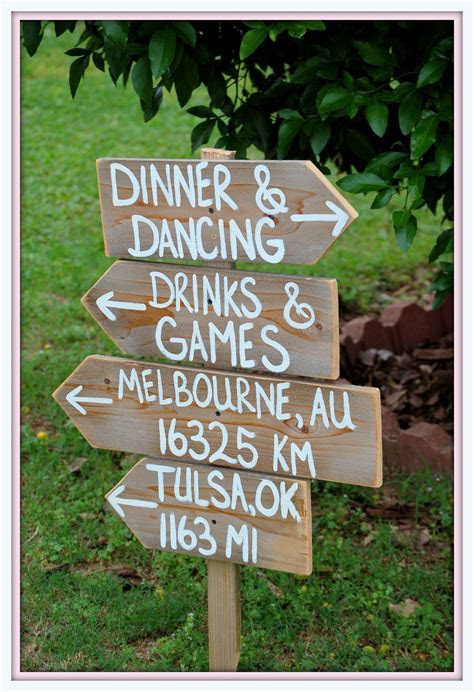 Rustic Wedding Signs Reclaimed Wood. Directional Arrow
