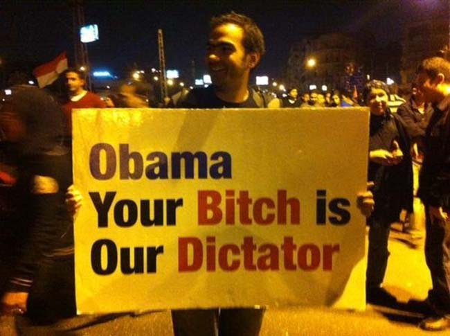 egypt 4 Egypt deposes the Muslim Brotherhood: the best Anti Obama banners