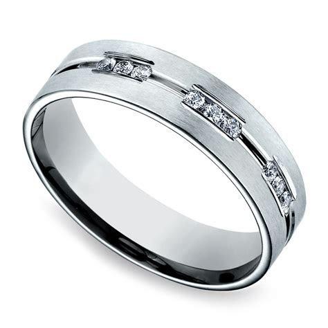 Diamond Eternity Men's Wedding Ring in Platinum