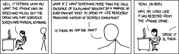 XKCD - android or iphone cartoon