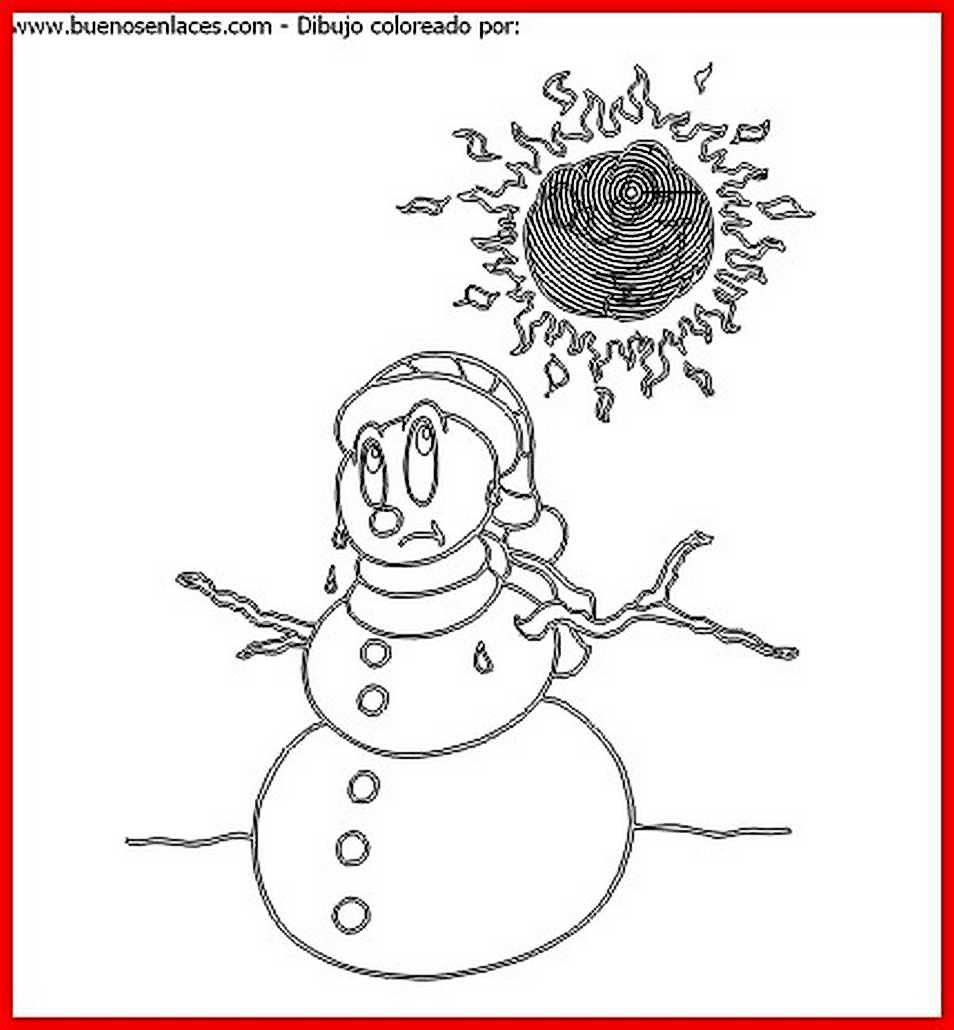 Dibujo De Muneco De Nieve Para Colorear E Imprimir