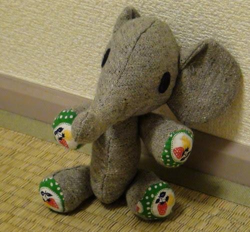 Miyu's elephant plushie
