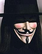 La maschera di V per Vendetta, simbolo degli «anonymous» di tutto il mondo