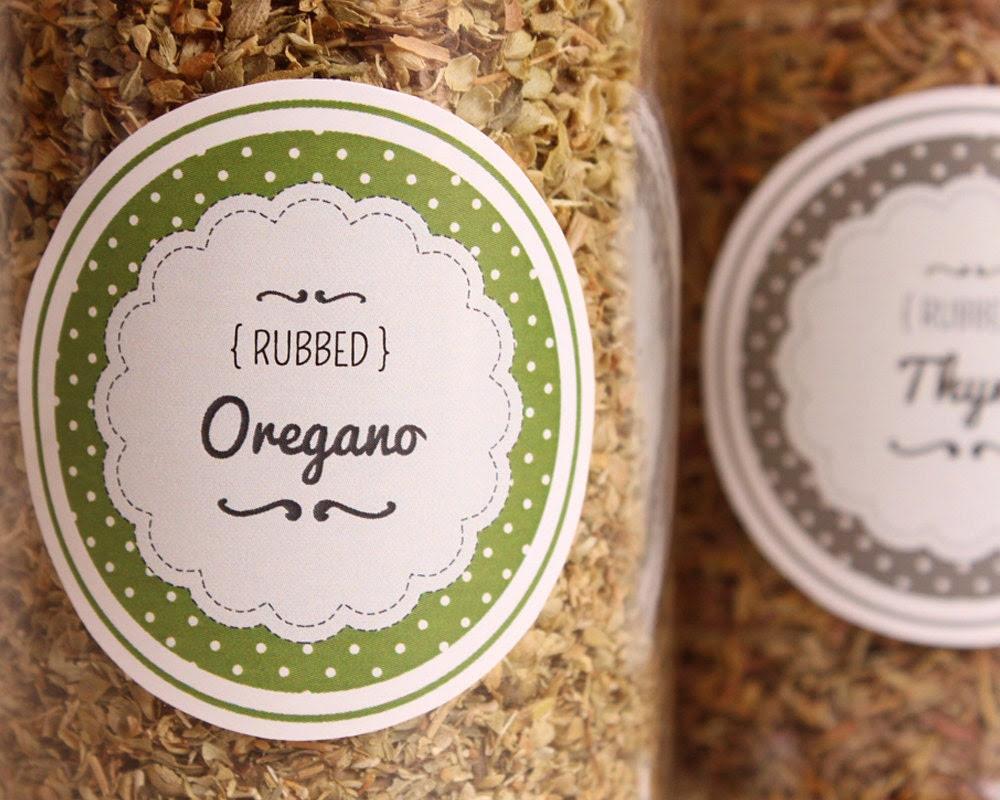 EDITABLE SPICE JAR labels diy Kit Herb & by LittlePaperSparrow
