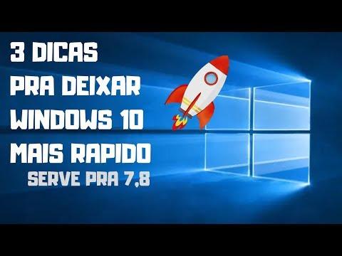 Como Deixar o Windows 10 Mais Rápido - 3 Dicas top
