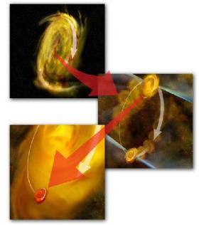 Como se forman sistemas de estrellas múltiples