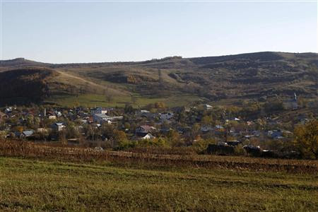 A general view of Pungesti village, where U.S. energy major Chevron plans to search for shale gas, 340 km (211 miles) northeast of Bucharest October 19, 2013. REUTERS/Bogdan Cristel