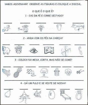 Portal Do Professor Adivinhas Brincar Com Palavras Pode Ser Divertido