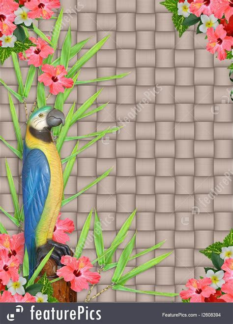 Cards And Posters: Luau Invitation Tropical Background