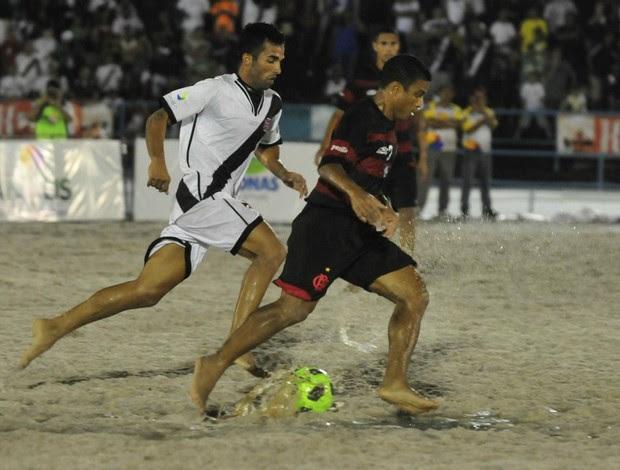 Vasco x Flamengo Copa Brasil de futebol de areia em Manaus (Foto: Antonio Lima)