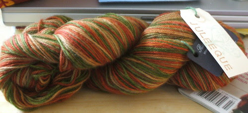 Juleeque's overdyed yarn - with coffee