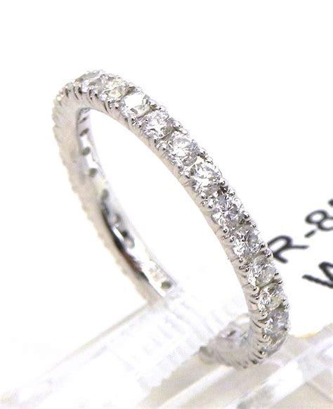 Ladies 18k White Gold Diamonds Eternity Wedding Band Ring