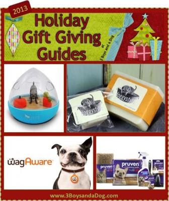 3 Boys and A Dog Holiday Gift Giving Guide for Pets.