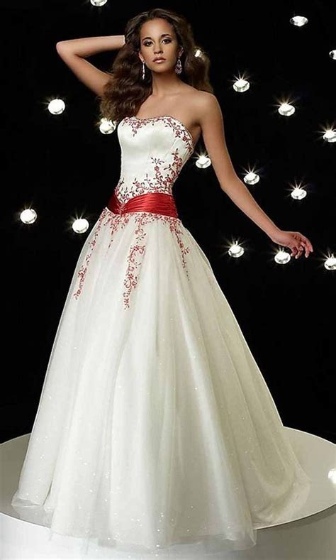 Black, Red, and White Wedding Dresses: a collection of