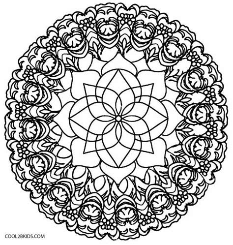 printable kaleidoscope coloring pages  kids coolbkids